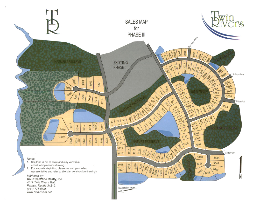 Parrish Florida Map.Site Map Twin Rivers