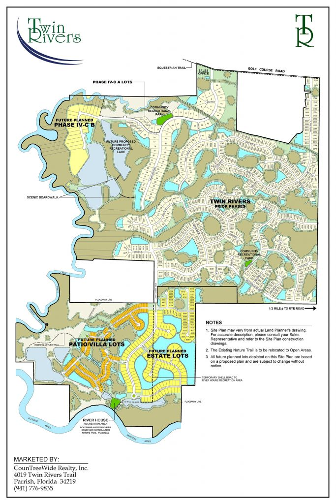 Site Map Twin Rivers
